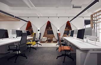 颜膜生物科技有限公司办公室英国威廉希尔公司设计