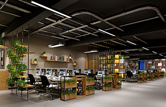 堆堆信息技术公司办公室英国威廉希尔公司设计